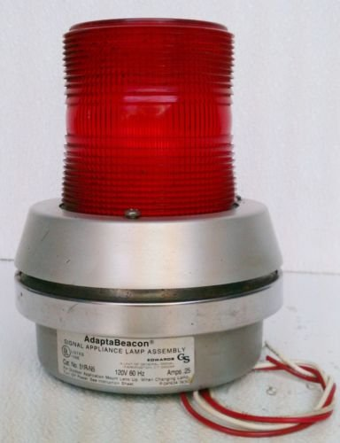 Edwards AdaptaBeacon 51R-N5 Red Signal Light 120 Volt