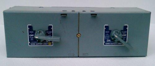 Square D QMB-210-T Series 1 Saflex Dual Fusible Switch 100 Amp 250 Volt 2 Pole