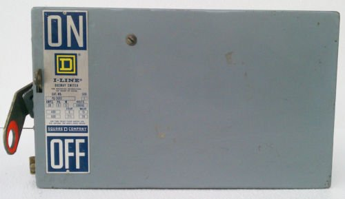 Square D PQ-3603 I-Line Bus Plug Disconnect Switch 600 Volt 30 Amp 3 Wire Used