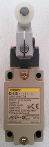 Omron D4B-3111N Roller Lever Limit Switch 2A 400 Volt IP67 D4B-0010N Nema A600