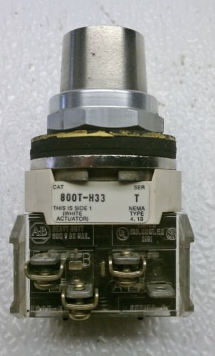 Allen Bradley 800T-H33 Series T 2 Position Selector Maintained Switch No Key