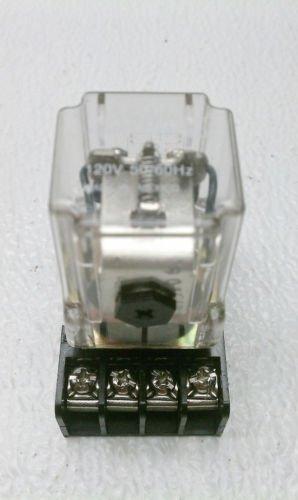 Potter & Brumfield KRP-11AG-120 DPDT Relay 120 VAC 1/3 HP 10 Amp 250 VAC w/ Base