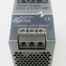 SOLA SDN 5-24-100P Power Supply 115/230 VAC 1.3-0.7 Amp  to 24 VDC 2.5 Amp
