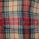 Gap Jeans Red w/ Yellow and blue Plaid Flannel L
