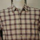 Levi Strauss Blue W/ Brown Plaid Casual Shirt M