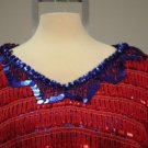 Mimi of Drew Carey Show Red and Blue Lace MuMu Top