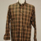 JoS. A. Bank Green w/ Red & Brown Plaid Long Sleeve L