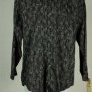 Perry Ellis Black Geometric Shape 100% Cotton Shirt M