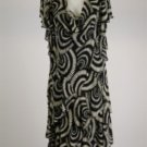 New Signature by Robbie Bee Black and off White Flowy Dress Size 20W