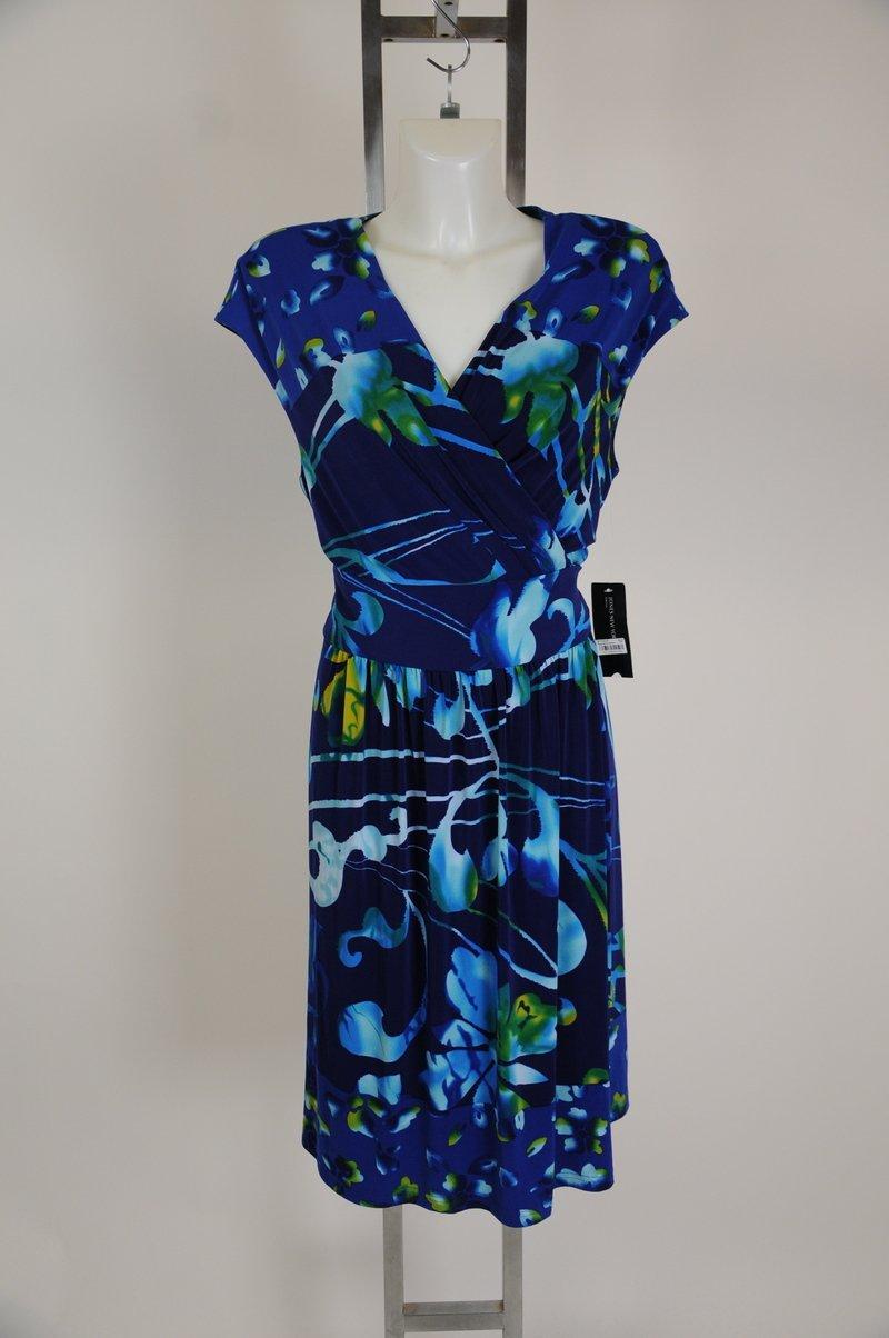 New Jones New York Multi Color Wrap Sun Dress Size 16