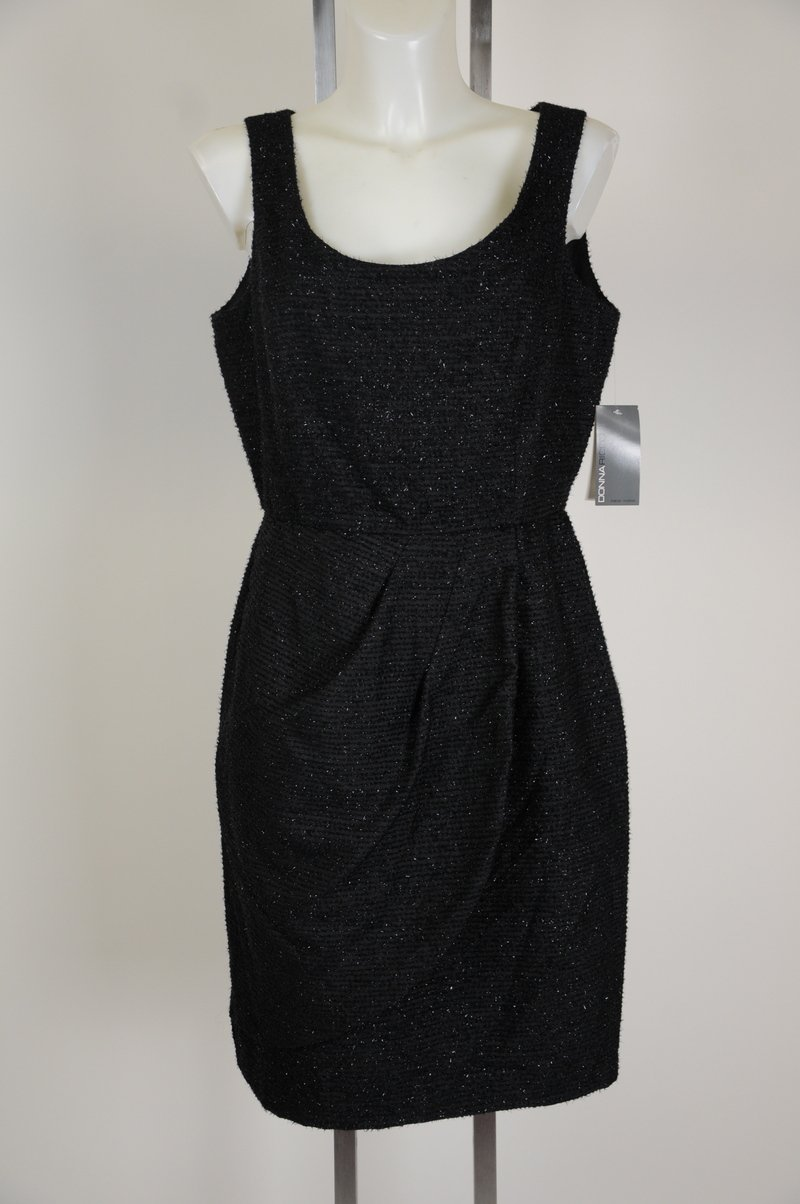NWD (missing pendent) Donna Ricco Wear To Work Sexy Black Dress Size 10