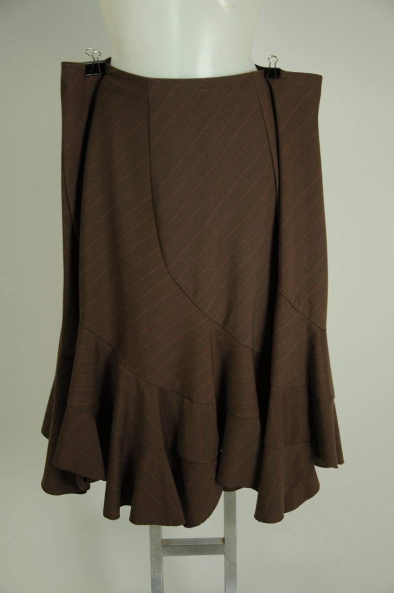 NWOT Sunney Leigh Plus Size Brown Skirt Size 18W