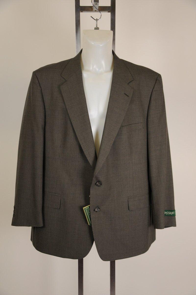 New Racquet Club Blazer 100% Wool Gray Plaid 44R Winston