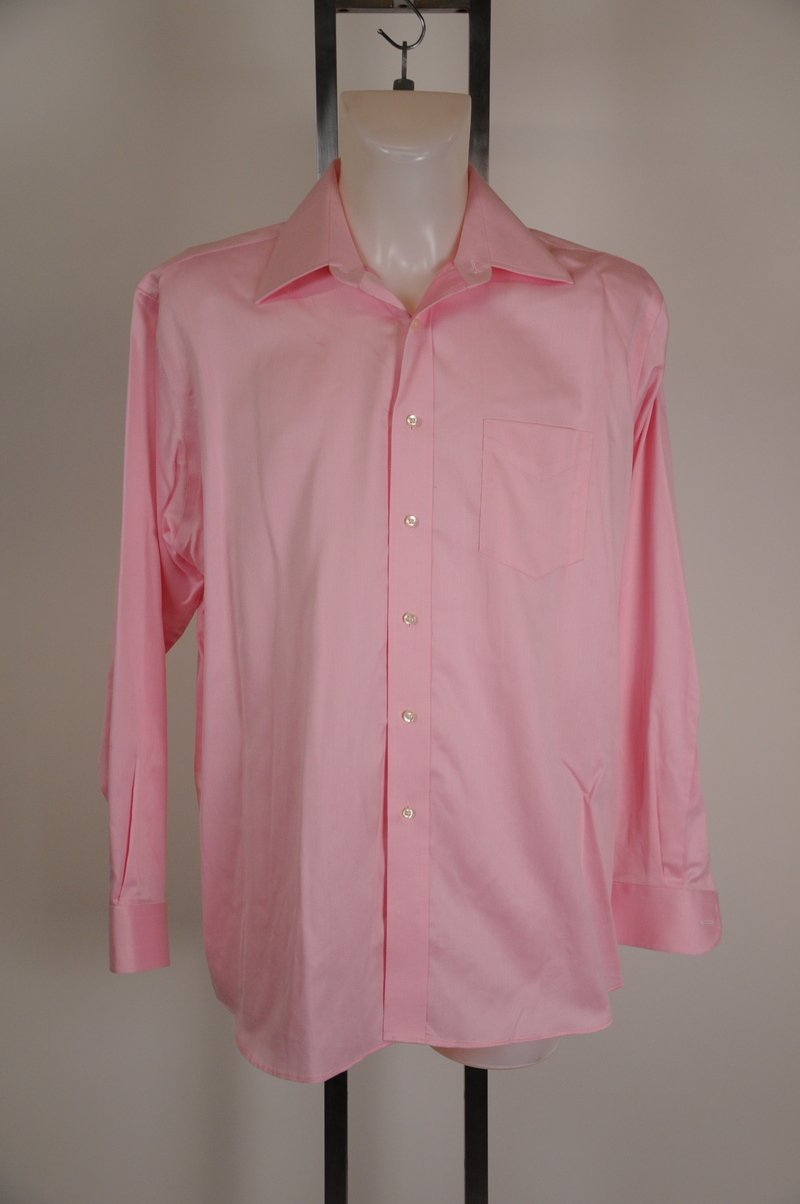 NWOT Forsyth of Canada Pink 100% Cotton Dress Shirt Size 16 34-35