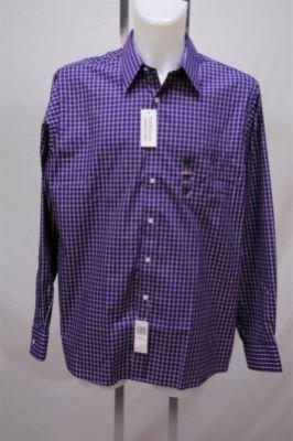 New Van Heusen Purple Plaid Shirt Wrinkle Free XL