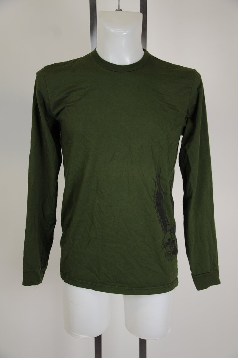 NWOT Be Present Long Sleeve Green T-Shirt Size Large L