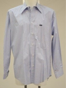 Flaconnable Blue Plaid Shirt Size L �Button Down Collar