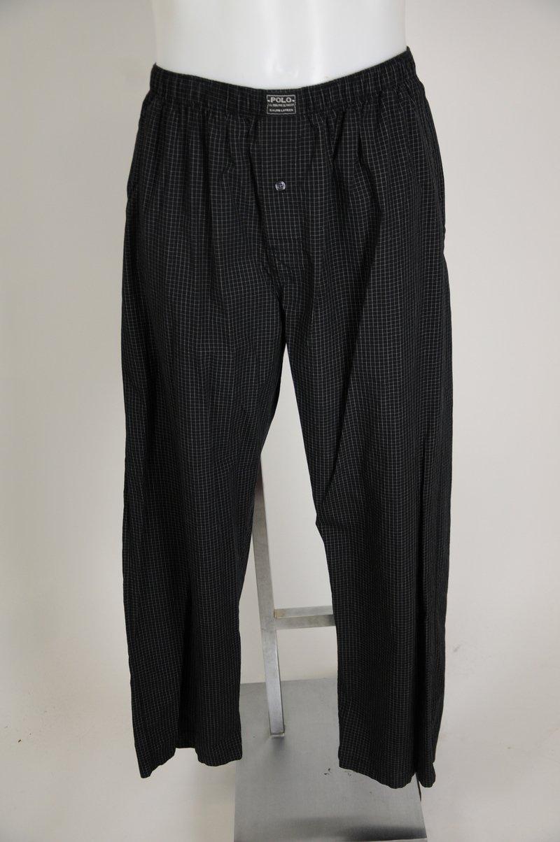 NWOT Polo By Ralph Lauren Black & White Plaid 100% Cotton Pajama Pants Size M