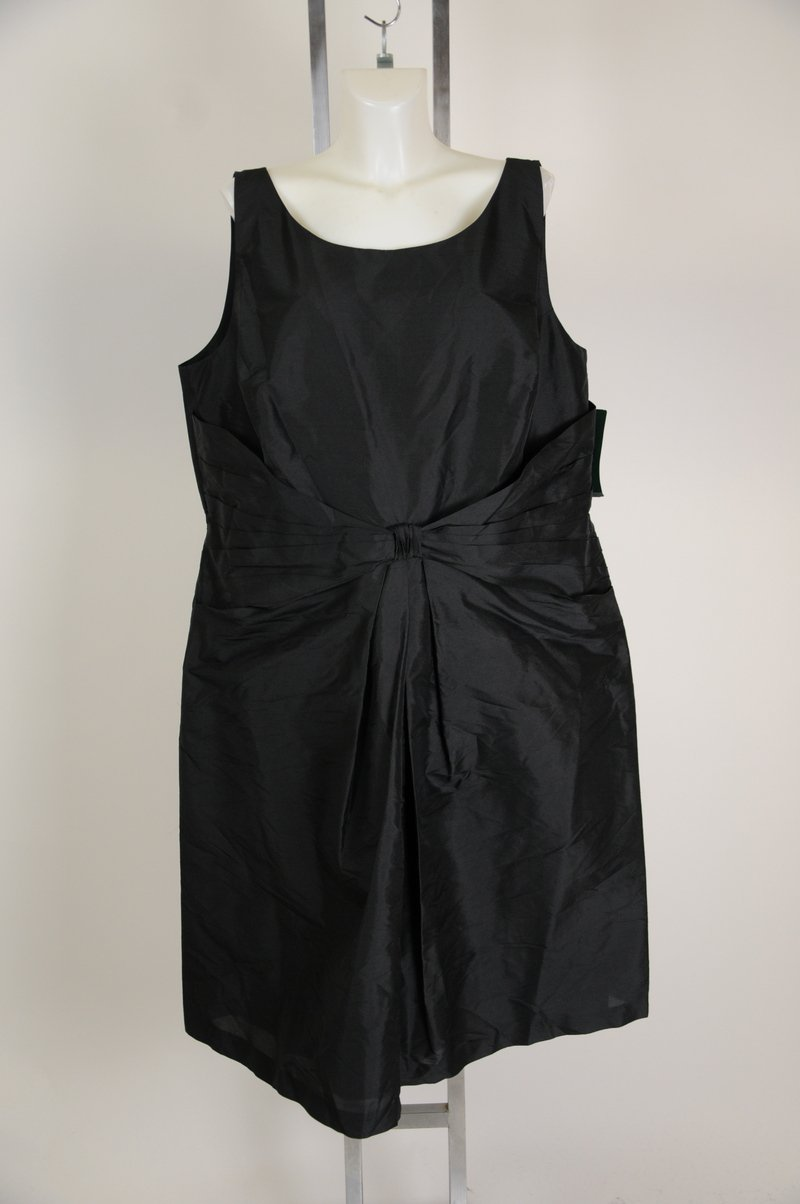 New Ralph Lauren Black SIlk Blend Black Wear To Work Dres Plus Size 22W