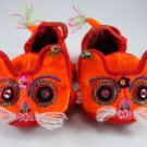 100% handmade Chinese tiger head and shap infant and baby shoes
