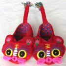 Handmade Tiger Head Baby Cotton Booties for Birthday of One full Age