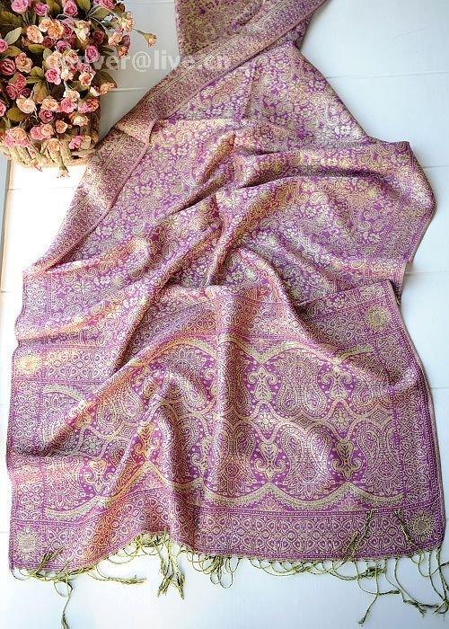 Sunflower rhyme silk violet  scarf