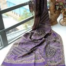 sakura monogatari purple cotton scarf