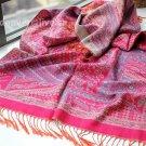 sakura monogatari carmine rose cotton scarf