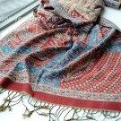 sakura monogatari purplish red cotton scarf