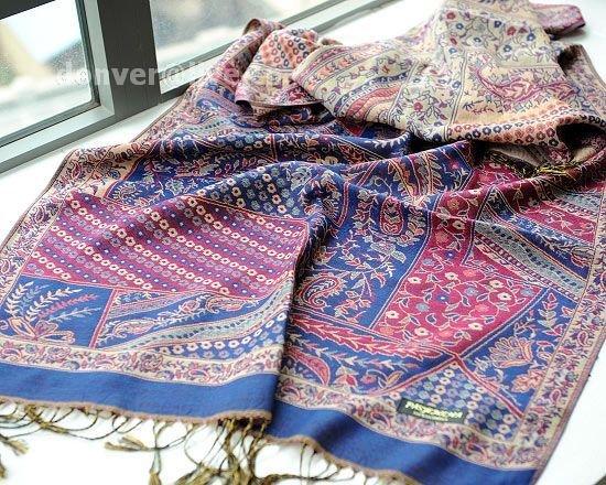 sakura monogatari purplish rose cotton scarf