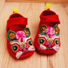 Baby infant Hand Made Embroidery Tiger Shoes