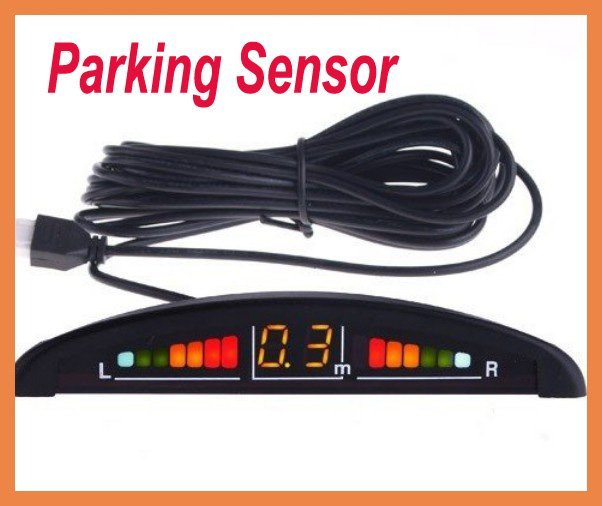 Free Shipping Car LED Display 4 Parking Sensor System Reverse backup Radar