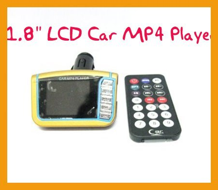 """Car MP4 Player 1.8"""" LCD Car MP4 Player Wireless FM Transmitter SD USB+ Free Shipping!"""