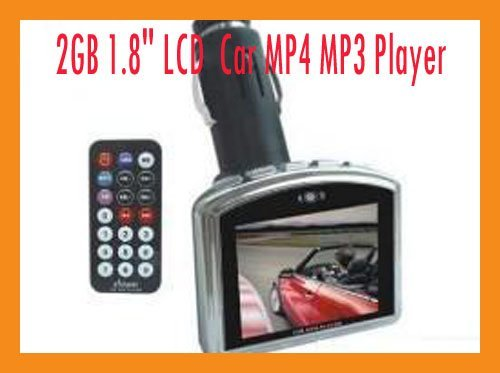 """2GB 1.8"""" LCD HOT SELL  Car MP4 MP3 Player with FM transmitter 2G"""