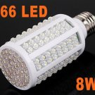 220V 8W E27 166 LED Light Energy Saving Bulb Corn Light  Free Shipping