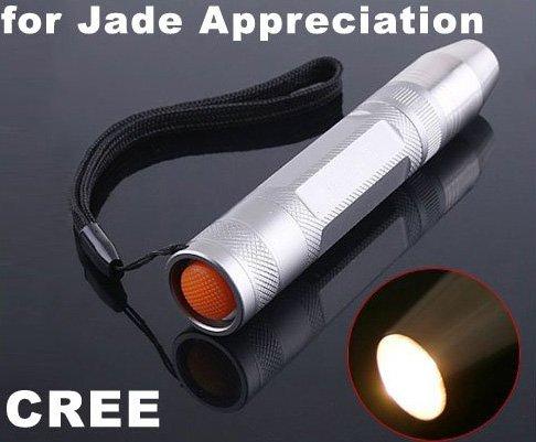 CREE LED Flashlight Yellow Light for Jade Appreciation  5pcs/lot  Free Shipping