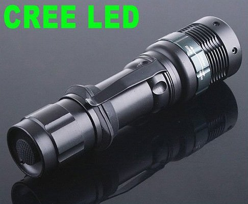180LM CREE LED 3-Modes Outdoor Camping Waterproof Flashlight Torch  25pcs/lot  Free Shipping