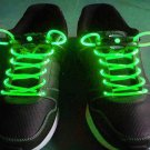 Green LED Light Up Shoes shoelaces Luminous shoestring Flash Glow Stick  5sets/lot  Free Shipping
