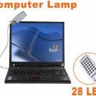 20pcs/lot  Free Shipping  Bright Flexible Mini 28 LED USB Light Computer Lamp