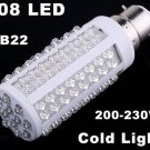 220V Bulb B22 5W 450LM Cold Light 108 LED Corn Light  10pcs/lot  Free Shipping