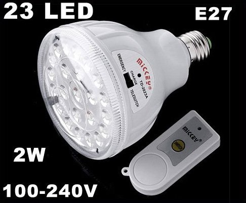 23 LED Rechargeable 2W Emergency Light Lamp with Remote Control  LED Lights  5pcs/lot