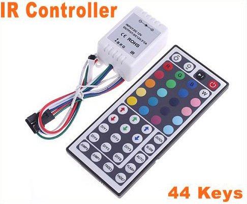 44 Keys IR Remote BRG Port Controller for RGB LED Strip Light  15pcs/lot  Free Shipping