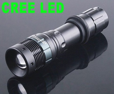 3-Modes 180LM Waterproof Outdoor CREE LED Flashlight Torch  30pcs/lot  Free Shipping
