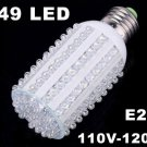 600LM E27 Screw 7W 110V-120V Corn Light 149 LED Light  Free Shipping  Retail