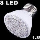 200-240V 50Hz 1.8W E27 38 LED Bulb Light  30pcs/lot  Free Shipping