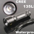 135LM Mini Focusable Waterproof Outdoor CREE LED Flashlight  Free Shipping