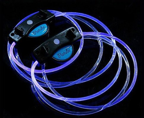 LED Light Up Shoelaces Flash Shoestrings Blue  5sets/lot  Free Shipping