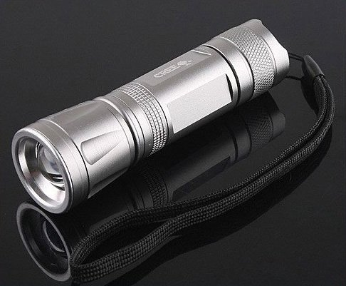 CREE LED 3-Modes 300LM Focusable Waterproof  LEDFlashlight /LED Torch  5pcs/lot  Free shipping