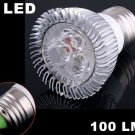 100LM E27 3W Energy Saving Cold White 3 LED Light Lamp Bulb  20pcs/lot  Free Shipping