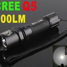 CREE Q5 LED 300LM 3-Modes 18650 Rechargeable LED Flashlight/Cree flashlight/LED Torch  Free Shipping